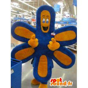 Mascot representing a flower with six leaves, floral disguise - MASFR002288 - Mascots of plants