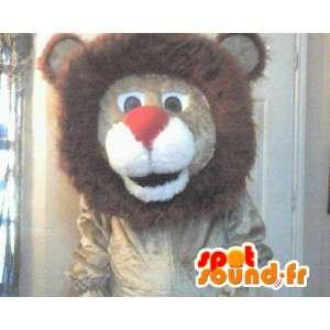 Mascot wat neerkomt op een lion king Plush leeuwkostuum - MASFR002290 - Lion Mascottes