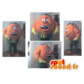 Mascot die een balvormige kop round verhullen - MASFR002272 - Niet-ingedeelde Mascottes