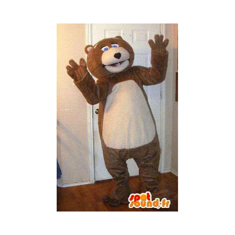 Plysj maskot bjørn, teddy forkledning - MASFR002291 - bjørn Mascot