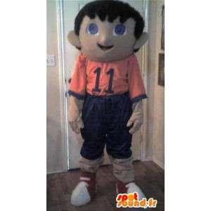 Mascot wat neerkomt op een sportief kind, jongen vermomming - MASFR002293 - mascottes Child
