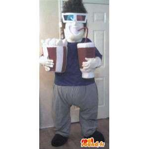 Mascot die ein Film-Fan Film-Kostüm 3D - MASFR002298 - Menschliche Maskottchen