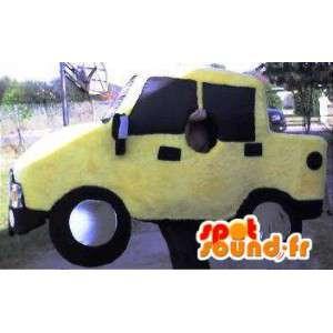 Maskot, der repræsenterer en pick-up, van forklædning -