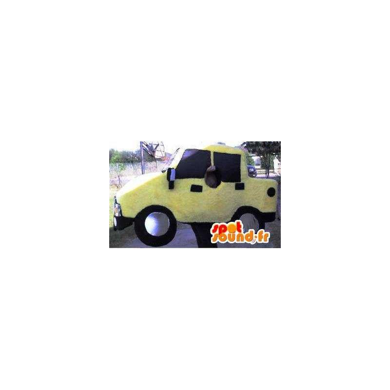 Mascotte représentant un pick-up, déguisement de camionnette - MASFR002299 - Mascottes d'objets