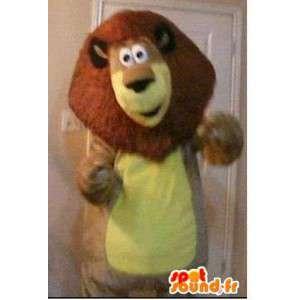 Lion Maskottchen Plüschkostüm König der Tiere - MASFR002304 - Löwen-Maskottchen