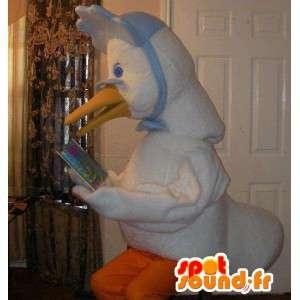 Mascot representando un lector disfraz granny ganso