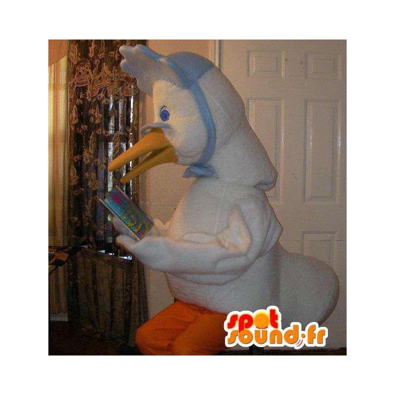 Mascotte représentant une mamie oie, déguisement de lectrice - MASFR002307 - Mascotte de canards