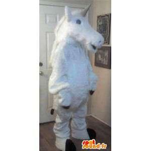 Fantastinen eläinten maskotti yksisarvinen puku