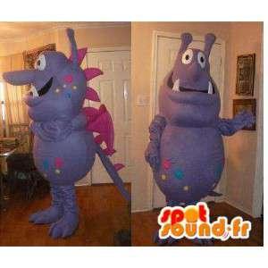 Alien monster mascot costume dragon - MASFR002311 - Dragon mascot
