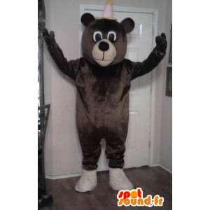 Karhun maskotti edustaja, nalle naamioida - MASFR002313 - Bear Mascot