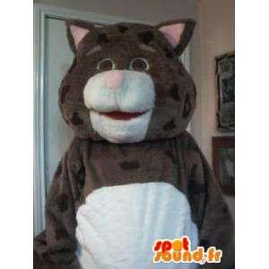 Maskotti edustaa täytetty kissa, Fat Cat puku - MASFR002314 - kissa Maskotteja