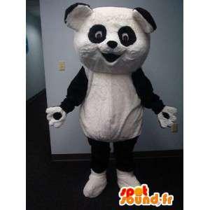 Mascot wat neerkomt op een panda pluche groen kostuum - MASFR002316 - Mascot panda's
