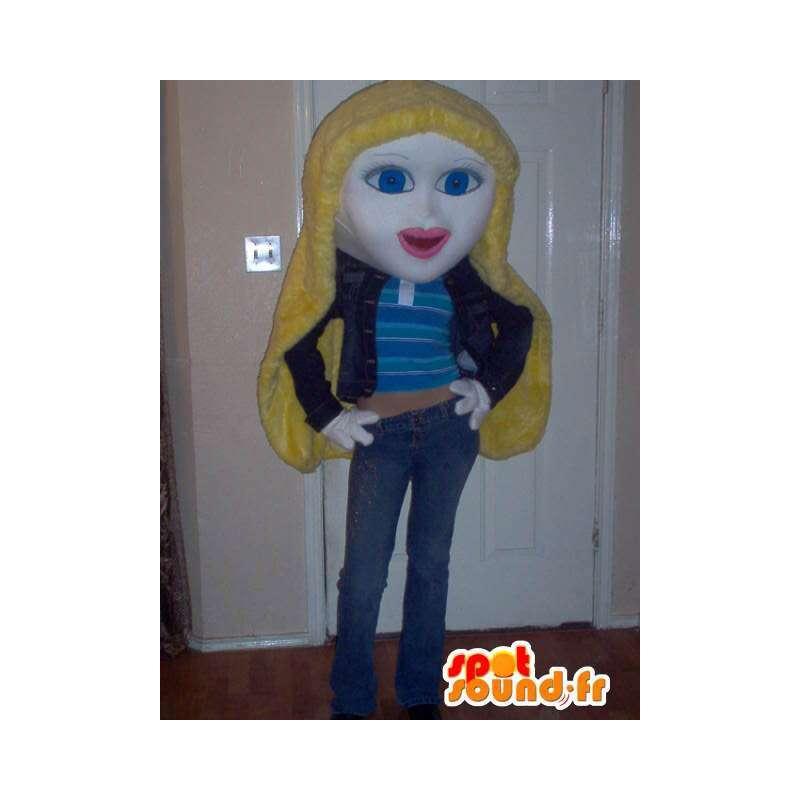 Mascot representing a blonde girl costume - MASFR002322 - Mascots boys and girls