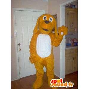 Mascot wat neerkomt op een teddybeer, hond kostuum - MASFR002323 - Dog Mascottes