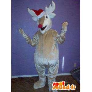 Mascotte che rappresenta un, costume caribu renna - MASFR002324 - Animali della foresta