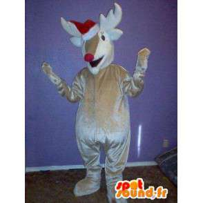 Maskot, der repræsenterer et rensdyr, rensdyr forklædning -