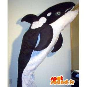 Kostume, der repræsenterer en orca, vandmaskot - Spotsound