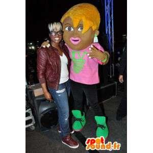 Mascot jonge vrouw - Starlet clubing - MASFR002338 - Vrouw Mascottes