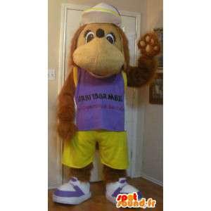 Dog Mascot - casual zomer Held - MASFR002339 - Dog Mascottes