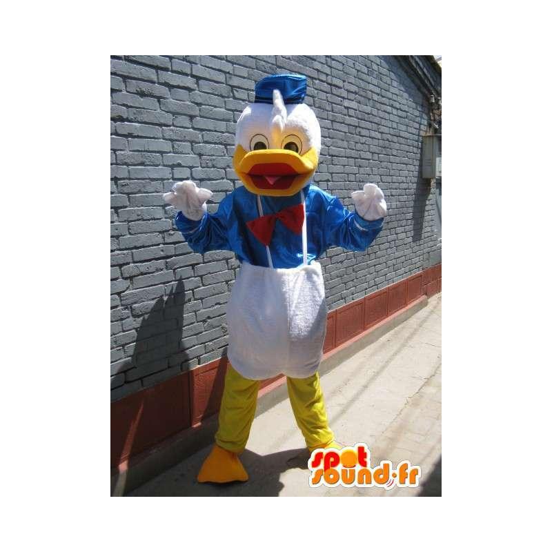 Duck Maskot - Donald Duck - modrý oblek, bílá žlutý - MASFR00193 - Donald Duck Maskot