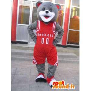 La mascota del oso - basketteur Houston Rockets - Yao Ming de vestuario