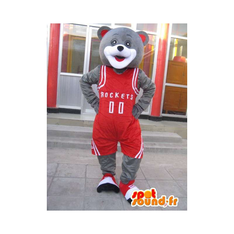 Orso mascotte - basketteur Houston Rockets - Yao Ming Costume - MASFR00194 - Mascotte orso