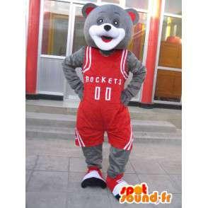 Αρκούδα μασκότ - παίκτης μπάσκετ Χιούστον Ρόκετς - Γιάο Μινγκ Κοστούμια - MASFR00194 - Αρκούδα μασκότ