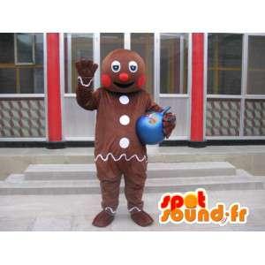 Mascotte Shrek - TiBiscuit - Peberkager / honningkager -