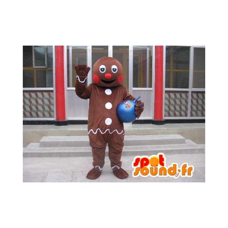 Shrek Mascot - TiBiscuit - Den frostet pepperkaker / Gingerbread - MASFR00202 - Shrek Maskoter