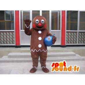 Σρεκ μασκότ - TiBiscuit - Ο παγωμένος μελόψωμο / Gingerbread - MASFR00202 - Σρεκ Μασκότ