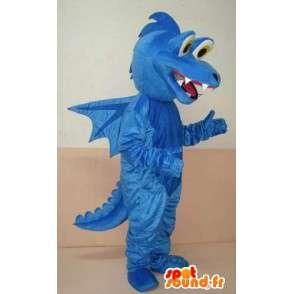 Dinossauro mascote azul - animais mascote com asas - transporte rápido - MASFR00213 - Mascot Dinosaur