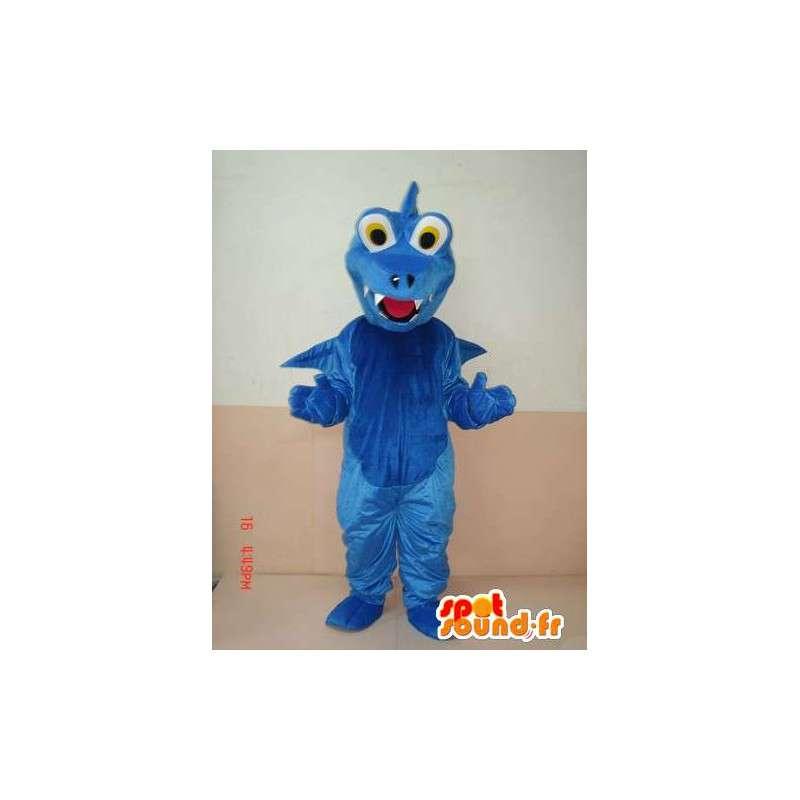 Dinosauro Blu Mascot - Mascot animale con le ali - Trasporto veloce - MASFR00213 - Dinosauro mascotte