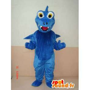 Blue Dinosaur Mascot - Mascot animal with wings - Fast shipping - MASFR00213 - Mascots dinosaur