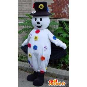 Maskotka Snowman - kapelusz i kwiat akcesoria - MASFR00214 - Mężczyzna Maskotki