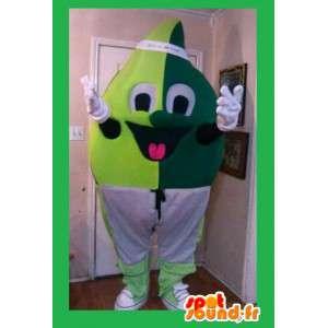 Green leaf mascot -...