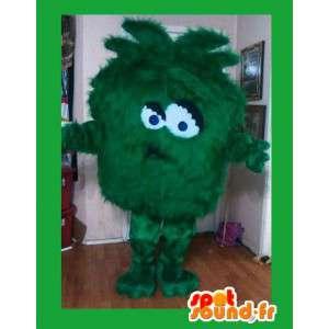 Green monster mascot - green costume all hairy