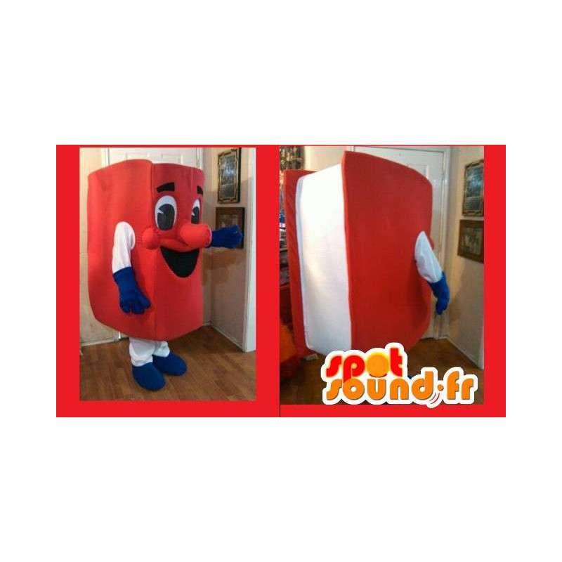 Mascotte livre rouge - Déguisement livre