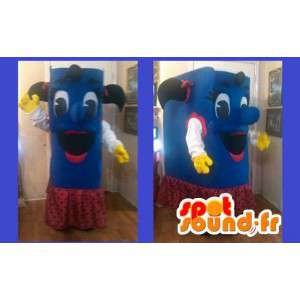 Libro blu costume ragazza - Book Costume