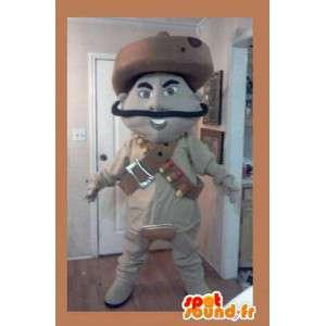 ベージュメキシコの兵士に扮マスコット -...