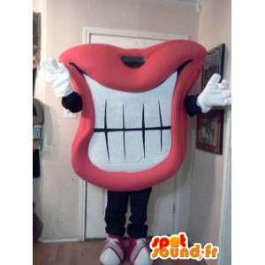 Mascotte grande bouche souriante - Déguisement bouche
