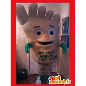 Mascot a forma di piede - piede peluche Costume divertente
