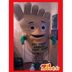Mascotte en forme de pied - Costume fun de pied en peluche