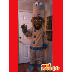 Cook Mascot svart - leder kokk drakt - MASFR002602 - Man Maskoter