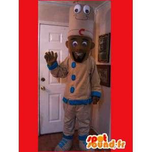 Cook Mascot zwart - hoofd kokkostuum - MASFR002602 - man Mascottes