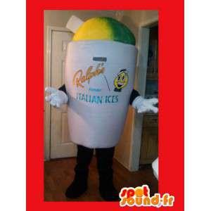 Vaso gigante di ghiaccio Mascot - Costume ghiaccio - MASFR002605 - Mascotte di fast food
