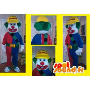 Gigant kolorowy kostium klauna - Klaun Mascot - MASFR002606 - maskotki Circus