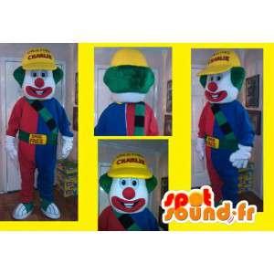 Obří barevné klaun kostým - Clown Maskot