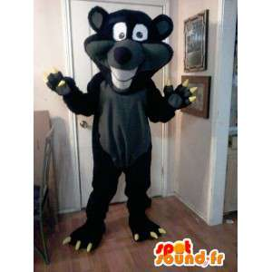 Smiling black panther mascot - Disguise Panther - MASFR002609 - Tiger mascots