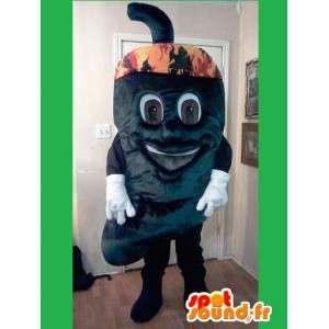 Mascote em forma de pimentão - traje da pimenta