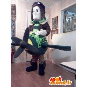 Mascot Aviator - Costume airplane pilot - MASFR002615 - Human mascots